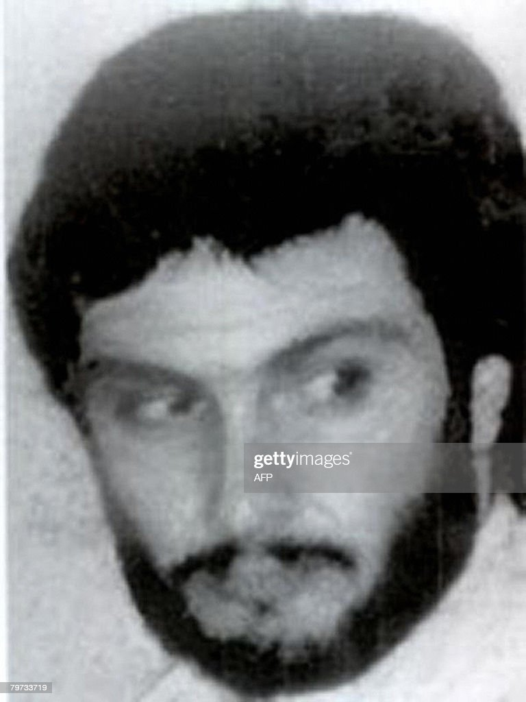This undated picture released on October 10 2001 by the FBI shows Imad Mughnieh wanted for the 1985 hijacking of a TWA flight in Beirut A Hezbollah...
