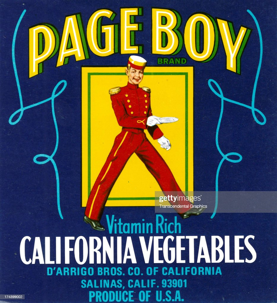 This vegetable can label is produced around 1940 in Salinas California