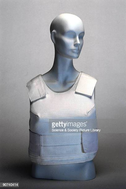 This vest needs to be made from more than one material It contains aramid fibres such as Kevlar or Twaron to stop bullets and steel mesh to stop...