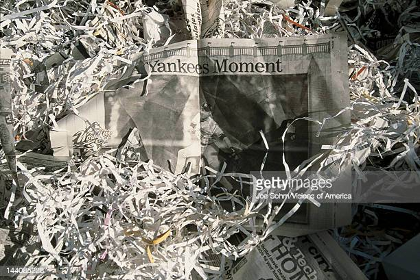 This was at a Ticker Tape Parade for the New York Yankees They were the 1998 World Champions It took place in the Canyon of Heroes and 35 million...
