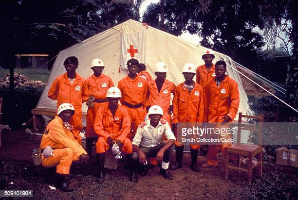 This was the local Red Cross team in Kikwit Zaire during the Ebola VHF outbreak in 1995 This team went to the homes in the area to bring patients...