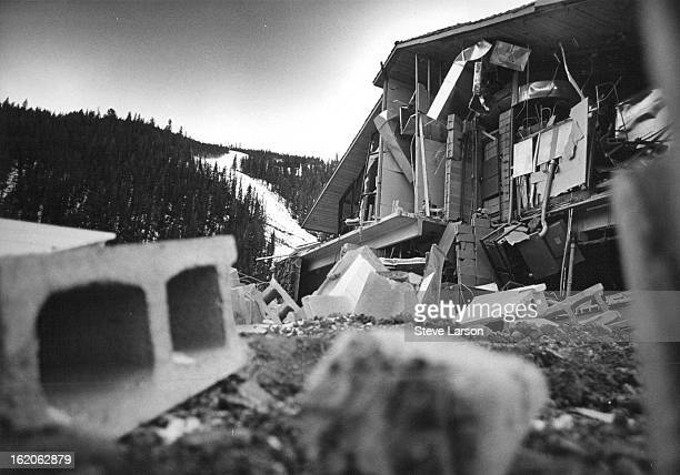 OCT 19 1970 OCT 20 1970 This Was The Scene At Keystone Mountain Ski Area Lodge After Blast