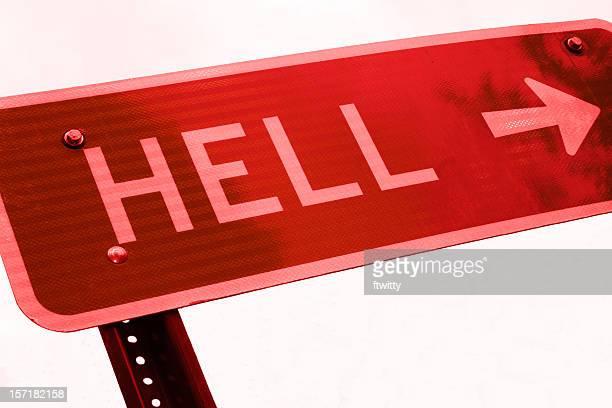 Questa strada per l'inferno in primo piano-rosso