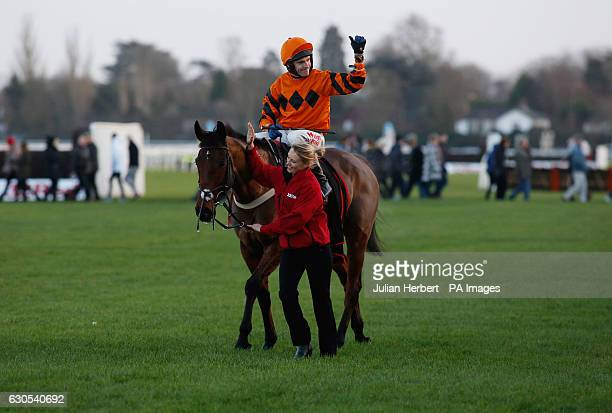 Thistlecrack ridden by Tom Scudamore wins The 32Red King George VI Steeple Chase Race run during day one of the 32Red Winter Festival at Kempton Park...