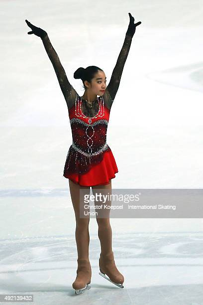 Thita Lamsam of Thailand skates during the junior ladies free skating of the ISU Junior Grand Prix at Dom Sportova on October 10 2015 in Zagreb...