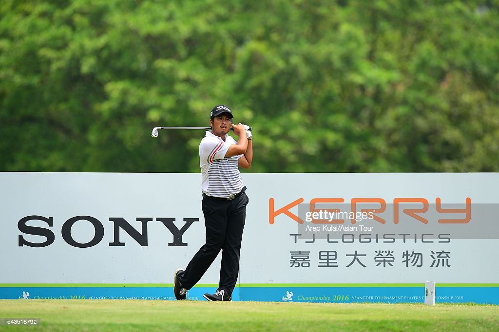 Thitiphun Chuayprakong of Thailand pictured during the ProAM tournament ahead of Yeangder Tournament Players Championship at Linkou International Golf Club on June 29, 2016 in Taipei, Taiwan.