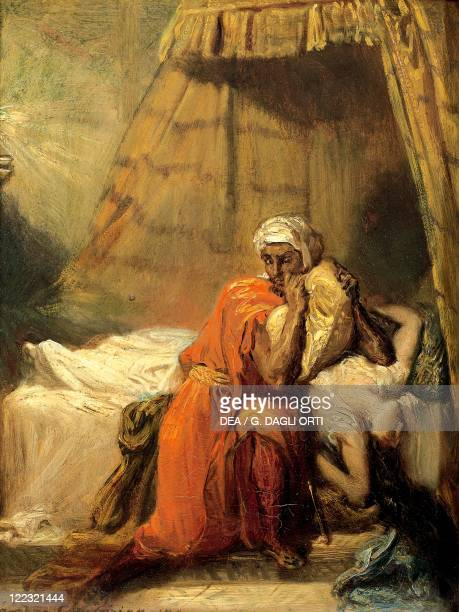 Théodore Chassériau Othello and Desdemona