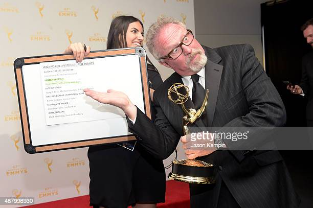 Thom Beers of 'Deadliest Catch' winner of Outstanding Unstructured Reality Program poses in the press room during the 2015 Creative Arts Emmy Awards...