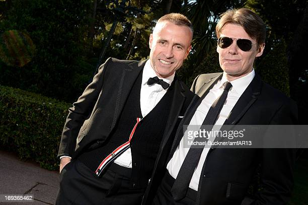 Thom Browne and Andrew Bolton attend amfAR's 20th Annual Cinema Against AIDS during The 66th Annual Cannes Film Festival at Hotel du CapEdenRoc on...