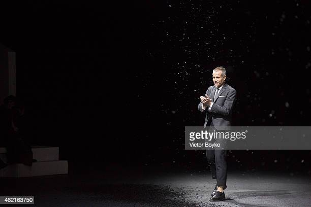 Thom Browne walks the runway during the Thom Browne Menswear Fall/Winter 20152016 show as part of Paris Fashion Week>> on January 25 2015 in Paris...