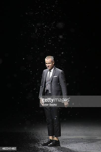 Thom Browne walks the runway during the Thom Browne Menswear Fall/Winter 20152016 show as part of Paris Fashion Week on January 25 2015 in Paris...