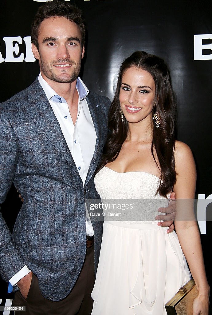Thom Evans (L) and Jessica Lowndes attend as Casio London celebrate the 1st birthday of their Covent Garden store on May 8, 2013 in London, England.