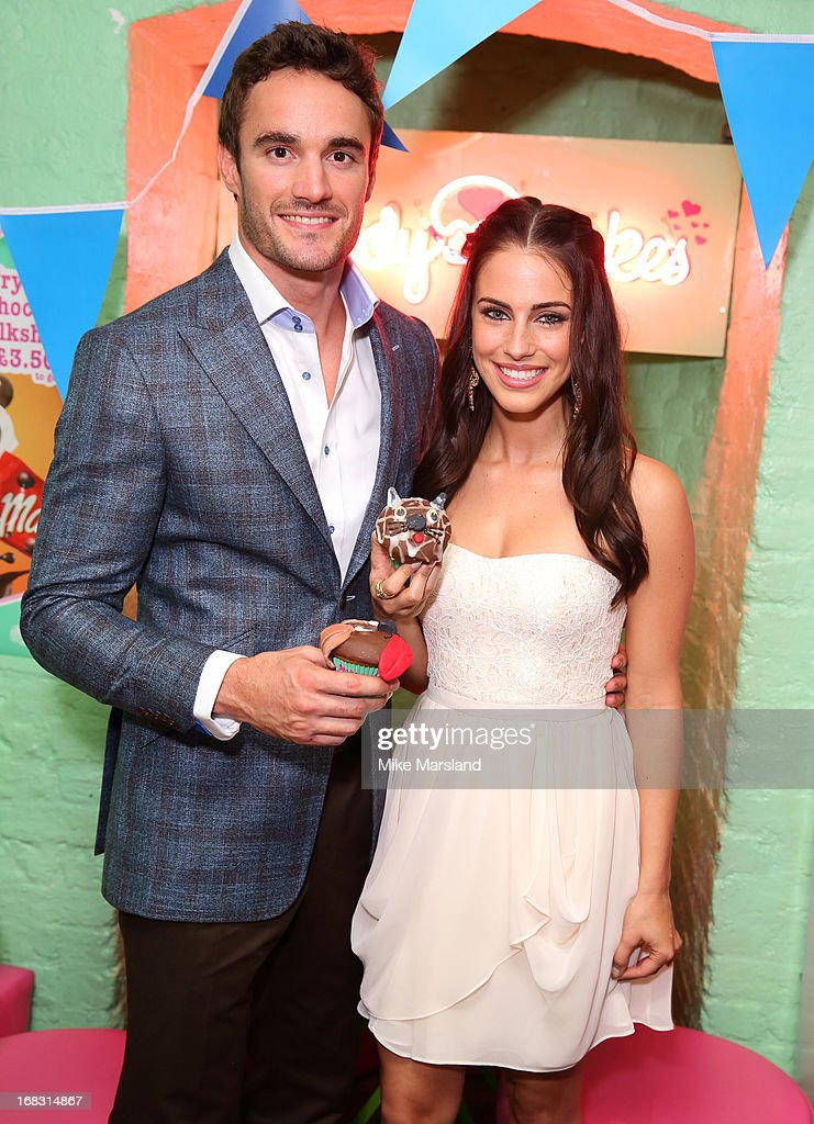 Thom Evans and Jessica Lowndes attend the Blue Cross tea party on May 8, 2013 in London, England.