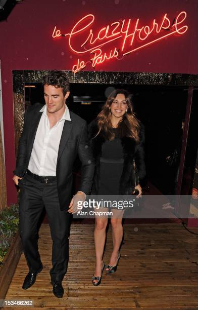 Thom Evans and Kelly Brook spotted leaving The Crazy Horse caberet show on October 5 2012 in London England