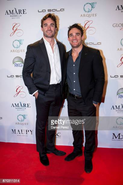 Thom Evans and Max Evans attend at the 2nd Annual Global Gift Ronan Keating Golf Tournament Dinner and Concert on November 04 2017 in Marbella Spain