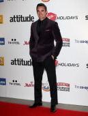 Thom Evans attends the Attitude Magazine awards at Royal Courts of Justice Strand on October 15 2013 in London England