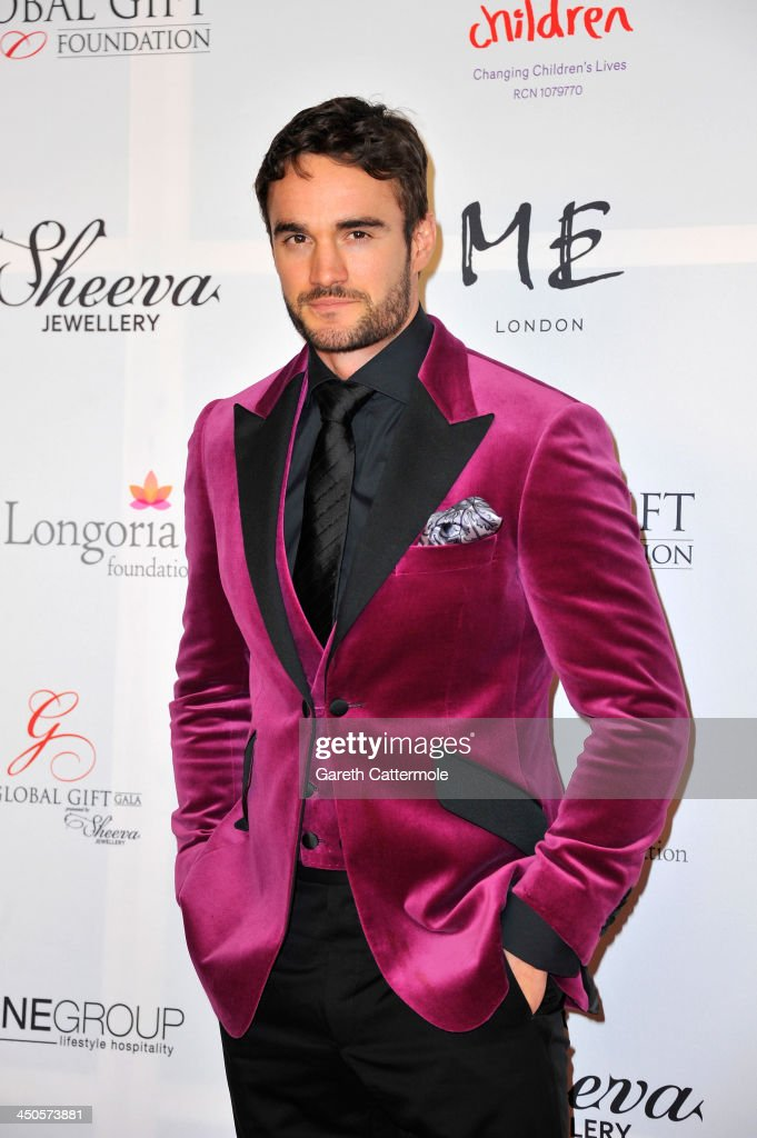 <a gi-track='captionPersonalityLinkClicked' href=/galleries/search?phrase=Thom+Evans&family=editorial&specificpeople=825883 ng-click='$event.stopPropagation()'>Thom Evans</a> attends the London Global Gift Gala at ME Hotel on November 19, 2013 in London, England.