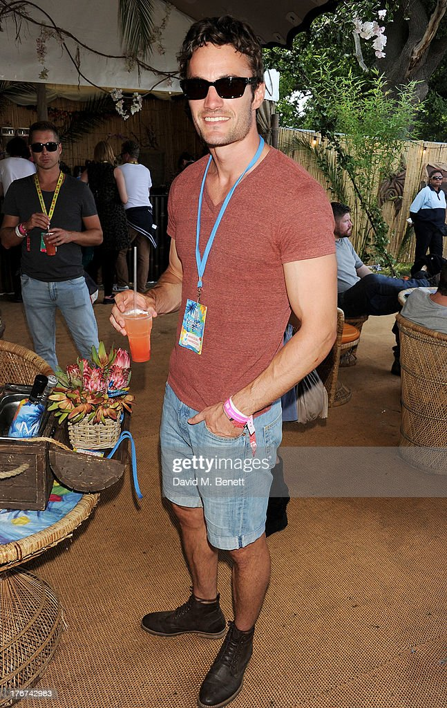 Thom Evans attends the Mahiki Coconut Backstage Bar during day 2 of V Festival 2013 at Hylands Park on August 18, 2013 in Chelmsford, England.