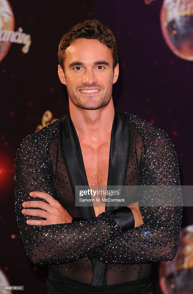 <a gi-track='captionPersonalityLinkClicked' href=/galleries/search?phrase=Thom+Evans&family=editorial&specificpeople=825883 ng-click='$event.stopPropagation()'>Thom Evans</a> attends the red carpet launch for 'Strictly Come Dancing' 2014 at Elstree Studios on September 2, 2014 in Borehamwood, England.