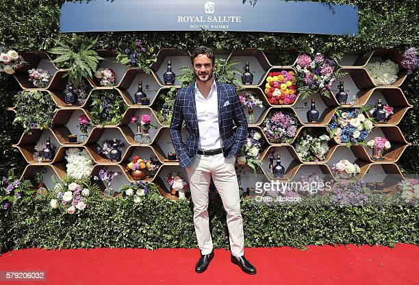 Thom Evans attends the Royal Salute Coronation Cup at Guards Polo Club on July 23 2016 in Egham England