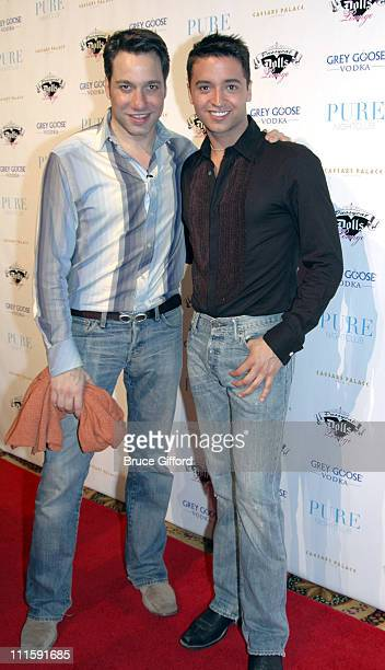 Thom Filicia and Jai Rodriguez during Black Eyed Peas' Fergie Celebrates Her Birthday at Pure Nightclub in Las Vegas March 25 2006 at Caesars Palace...