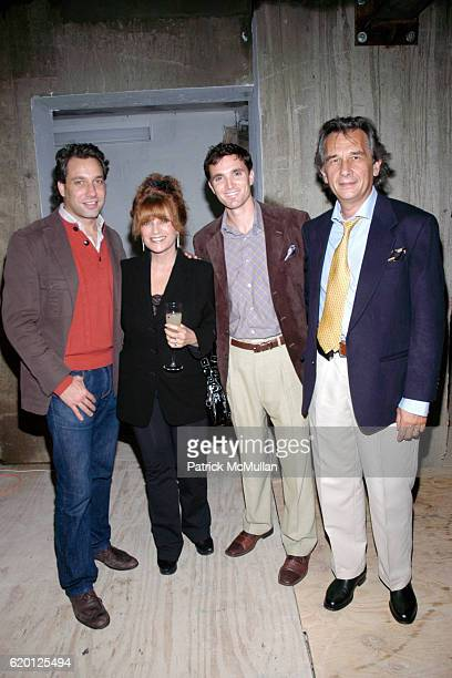 Thom Filicia Linda Fine guest and Matt Riley attend CHRISTIE'S Auction Preview of PostWar Contemporary Art at 15 Union Square West on February 6 2008...