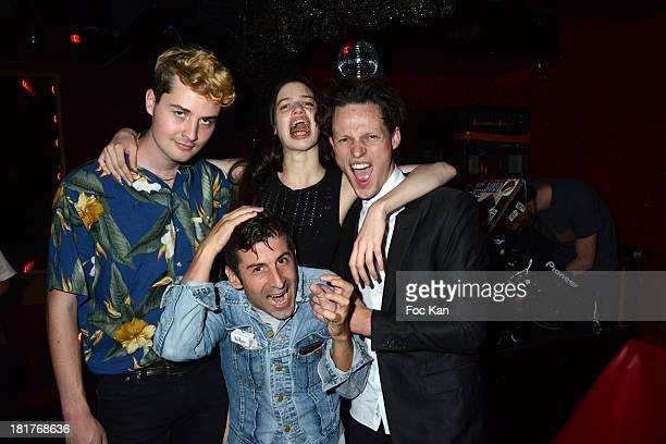 Thom Rhoades Andre Saraiva model Lily McMenamy and Singer Tom Burke attend the 'Haute Performance' By Andre Saraiva After Party At Le Baron on...