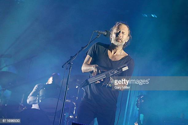 Thom Yorke and Philip Selway of Radiohead perform in concert during the Austin City Limits Music Festival at Zilker Park on September 30 2016 in...