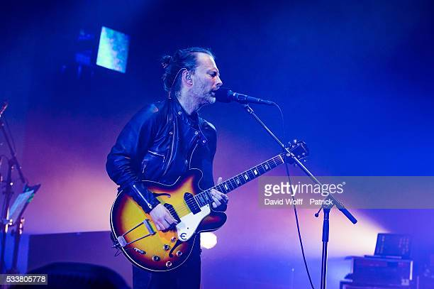 Thom Yorke from Radiohead performs at Le Zenith on May 23 2016 in Paris France