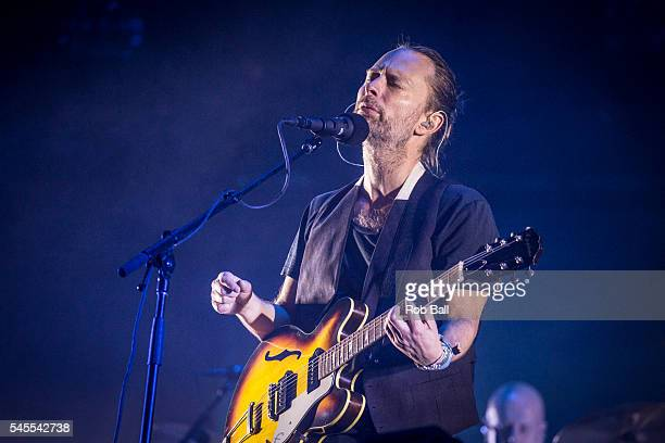 Thom Yorke from Radiohead performs at NOS Alive on July 8 2016 in Lisboa CDP Portugal