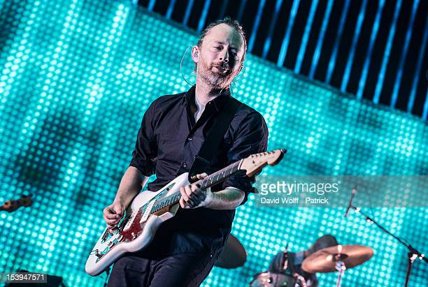 Thom Yorke from Radiohead performs at Palais Omnisports de Bercy on October 11 2012 in Paris France