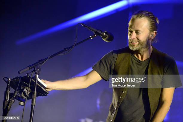 Thom Yorke of Atoms for Peace performs as part of the Austin City Limits Music Festival Day Three at Zilker Park on October 6 2013 in Austin Texas