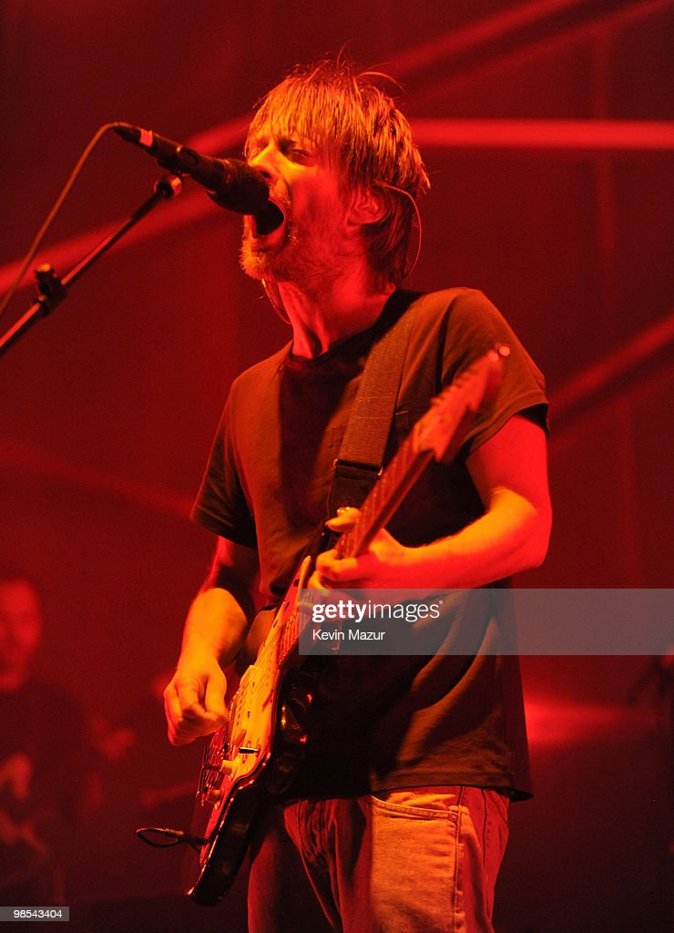 Thom Yorke of Atoms for Peace performs during the Day 3 of the Coachella Valley Music & Arts Festival 2010 at the Empire Polo Field on April 18, 2010 in Indio, California.
