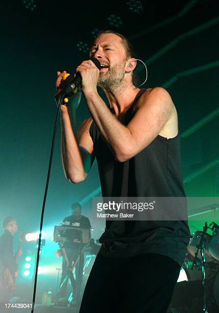 Thom Yorke of Atoms For Peace performs on stage at The Roundhouse on July 25 2013 in London England
