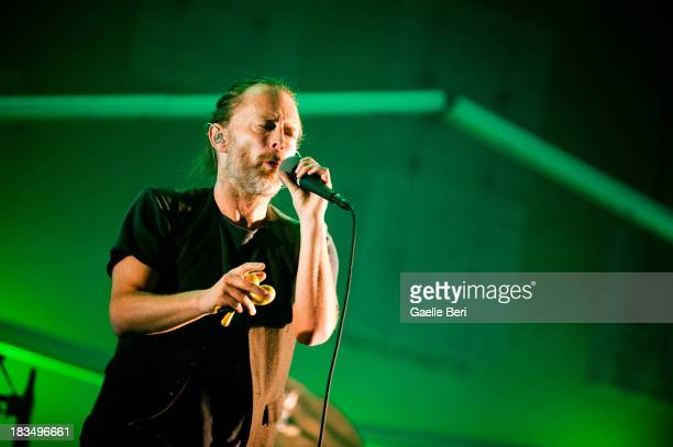 Thom Yorke of Atoms for Peace performs on stage on Day 3 of Austin City Limits Festival at Zilker Park on October 6 2013 in Austin Texas