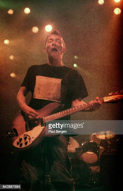 Thom Yorke of British band Radiohead performs on stage at Ahoy Rotterdam Netherlands 13th October 1997