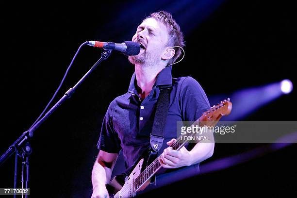 Thom Yorke of British rock group Radiohead performs on the main stage at the V Festival near Chelmsford in Essex 19 August 2006 Radiohead announced...
