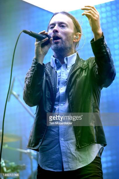 Thom Yorke of Radiohead performs at Day 2 of the Bonnaroo Music And Arts Festival on June 8 2012 in Manchester Tennessee