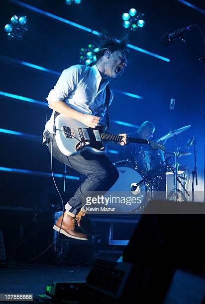 Thom Yorke of Radiohead performs at Roseland Ballroom on September 28 2011 in New York City