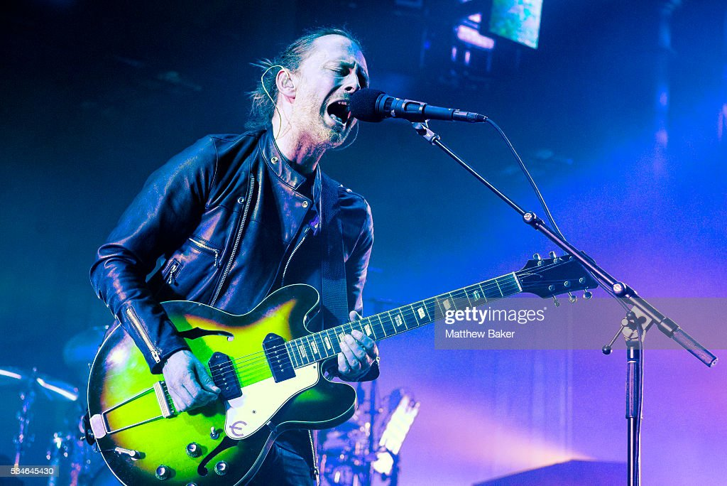 Thom Yorke of Radiohead performs at The Roundhouse on May 26 2016 in London England
