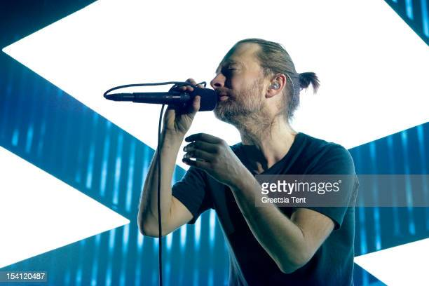 Thom Yorke of Radiohead performs at Ziggo Dome on October 14 2012 in Amsterdam Netherlands