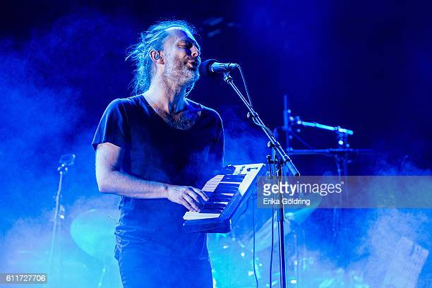 Thom Yorke of Radiohead performs at Zilker Park on September 30 2016 in Austin Texas