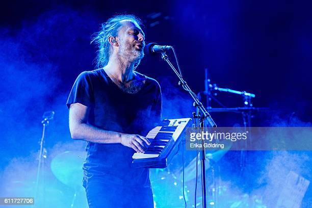 Thom Yorke of Radiohead performs at Zilker Park on September 30 2016 in Austin Texas