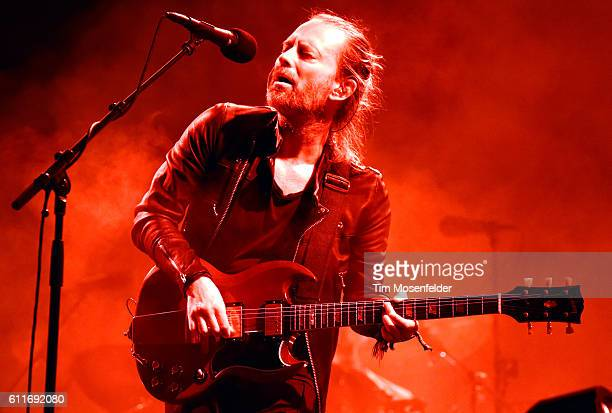 Thom Yorke of Radiohead performs during the Austin City Limits Music Festival at Zilker Park on September 30 2016 in Austin Texas