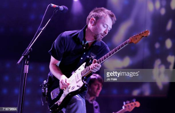 Thom Yorke of Radiohead performs during the V Festival in Hylands Park August 19 2006 in Chelmsford England