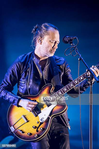 Thom Yorke of Radiohead performs in concert during the third day of Primavera Sound 2016 on June 3 2016 in Barcelona Spain