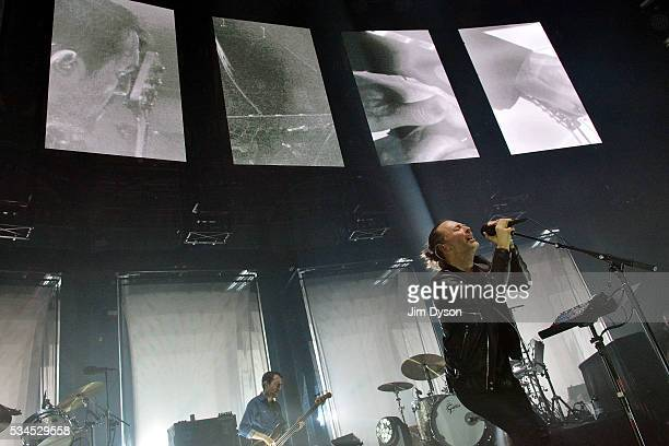 Thom Yorke of Radiohead performs live on stage at The Roundhouse on May 26 2016 in London England
