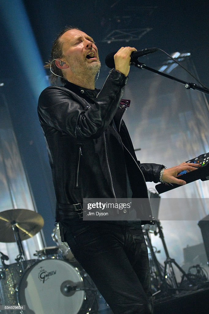 <a gi-track='captionPersonalityLinkClicked' href=/galleries/search?phrase=Thom+Yorke&family=editorial&specificpeople=216542 ng-click='$event.stopPropagation()'>Thom Yorke</a> of Radiohead performs live on stage at The Roundhouse on May 26, 2016 in London, England.