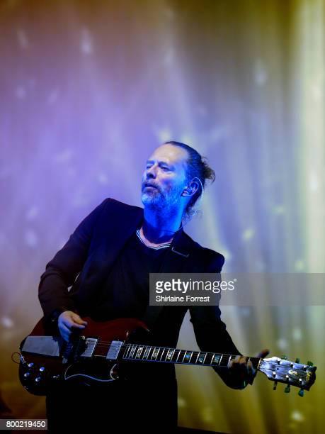 Thom Yorke of Radiohead performs on day 2 of the Glastonbury Festival 2017 at Worthy Farm Pilton on June 23 2017 in Glastonbury England