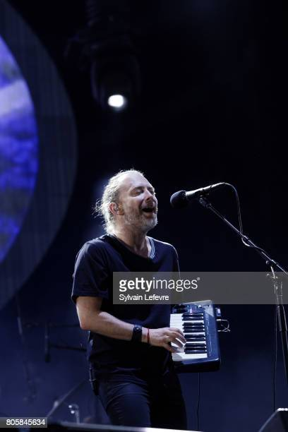 Thom Yorke of Radiohead performs on day 3 of the Main Square Festival on July 2 2017 in Arras France